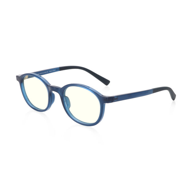 JINS Kids Boston Screen Glasses by Jasper Morrison in color Blue