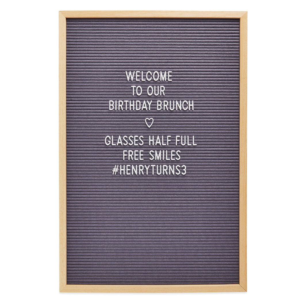 Large Letter Board in color