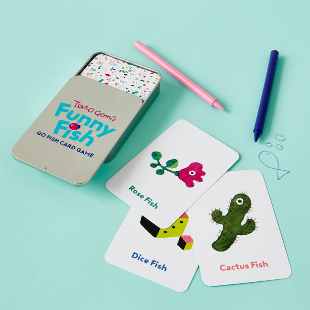 Taro Gomi's Funny Fish: Go Fish Card Game in color