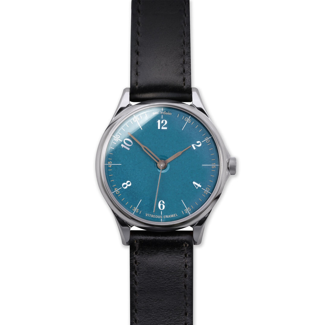 anOrdain Model 1 Watch - Teal Dial in color Black Shell