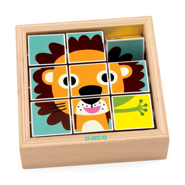 Tournanimo 3D Rotating Wooden Puzzle in color