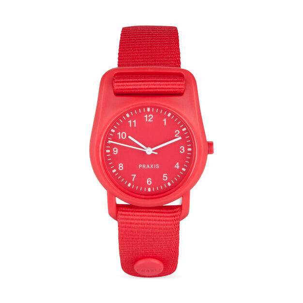 Strap Watch Red in color Red