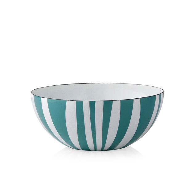 Medium Striped Bowls in color Moss Green