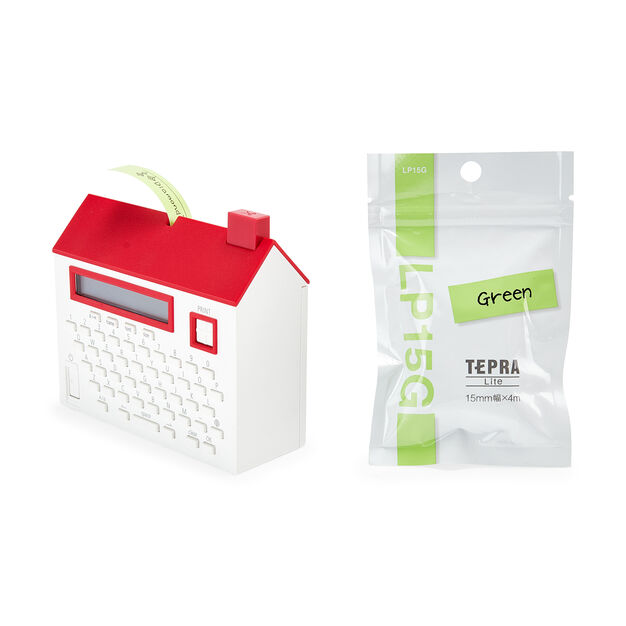 House Label Maker Tape in color Green