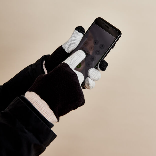 Colorblock Touchscreen Gloves in color