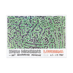 Keith Haring: Homo Decorans Poster in color