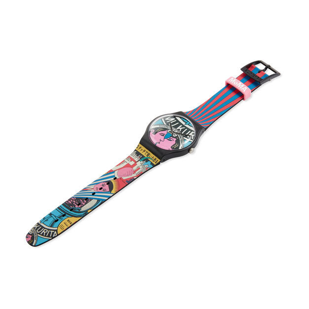 Swatch x MoMA Watches in color Yokoo City and Design