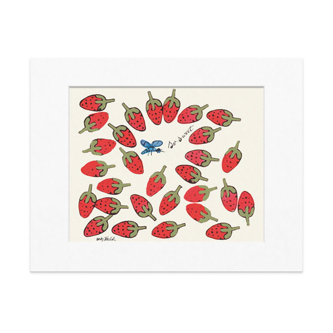 Warhol: So Sweet Matted Print in color