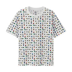 UNIQLO Max Bill Colorful T-Shirt - X-Large in color White