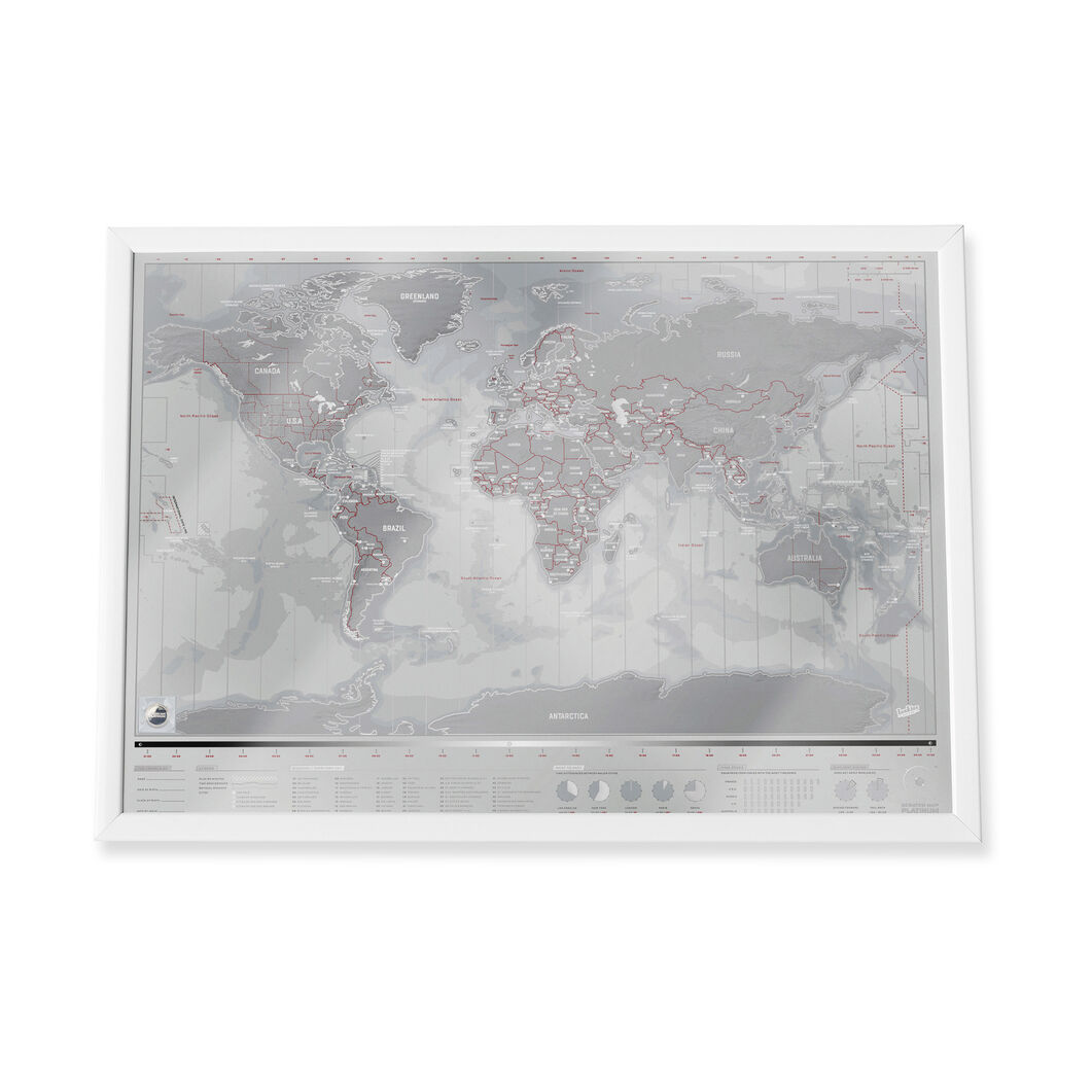 World Map Store.Platinum Scratch World Map Moma Design Store