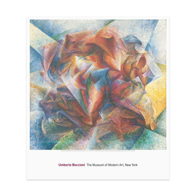 Boccioni: Dynamism of a Soccer Player Poster in color