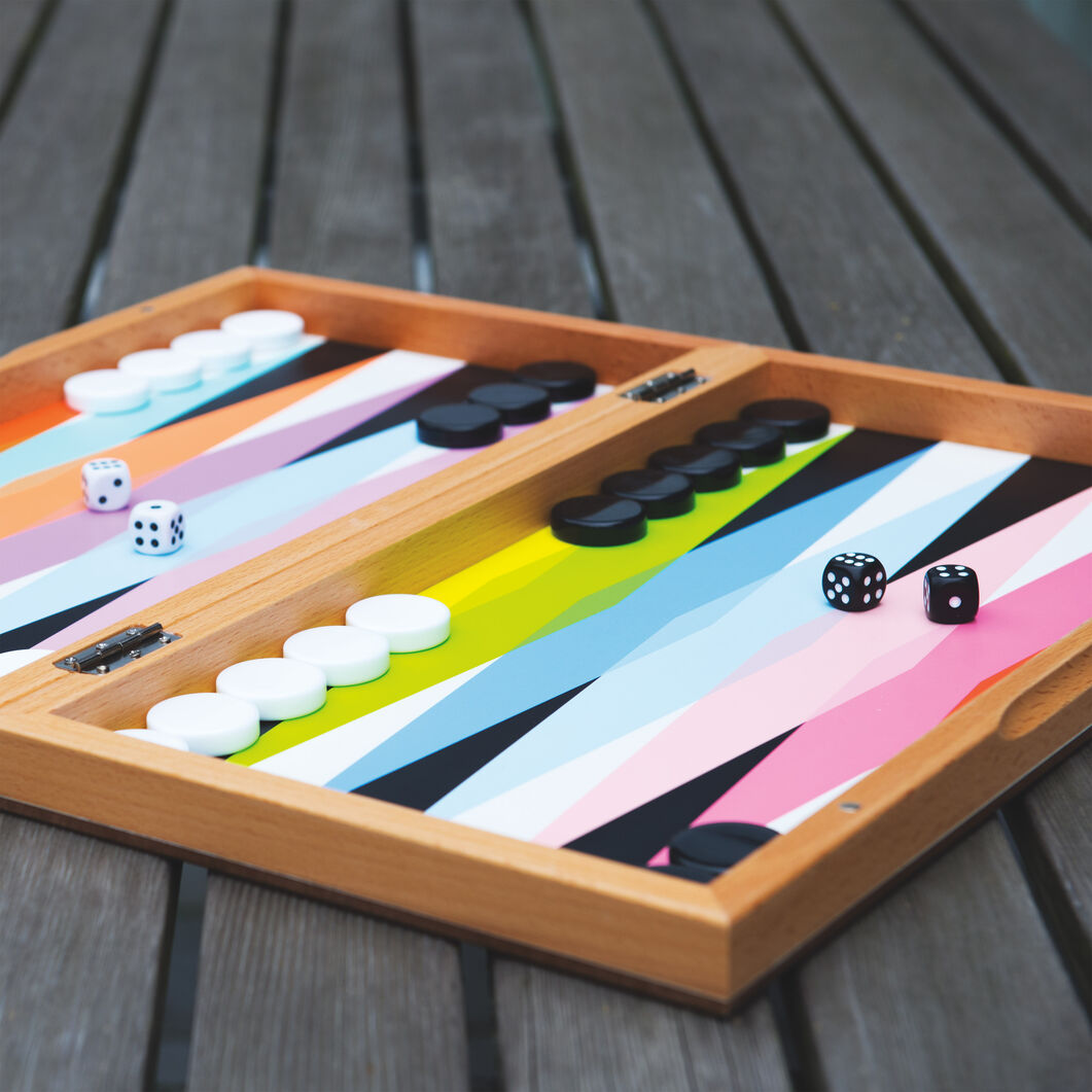 Colorful Backgammon Set in color