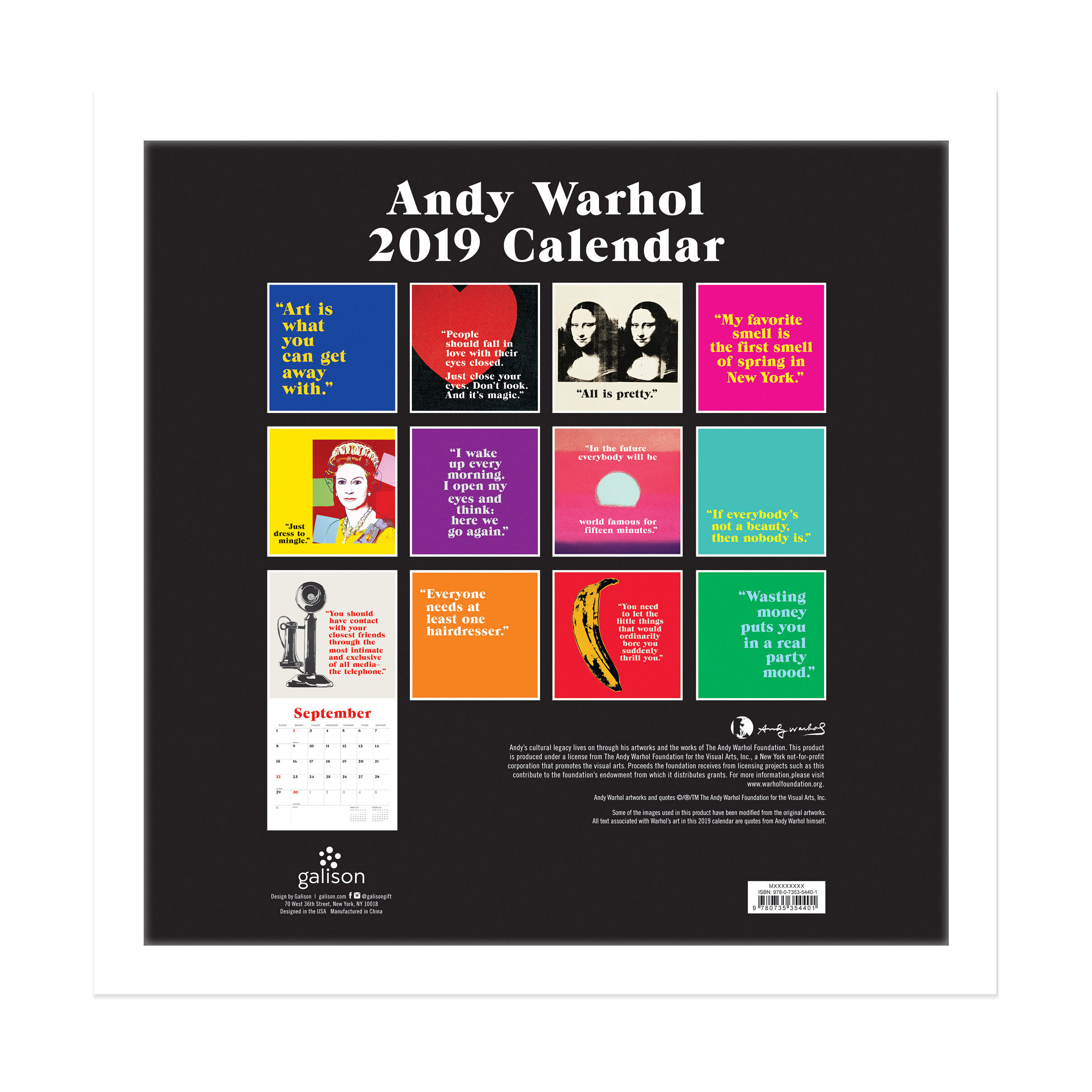 2019 Warhol Wall Calendar in color  sc 1 st  MoMA Design Store & 2019 Warhol Wall Calendar | MoMA Design Store