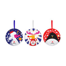 Le chocolat des Français Holiday Ornaments - Set of 3 in color