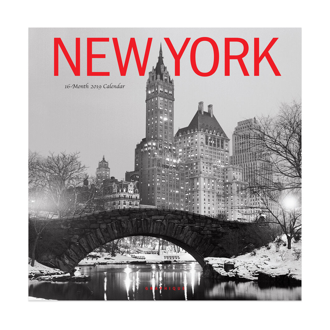 2019 New York Wall Calendar in color