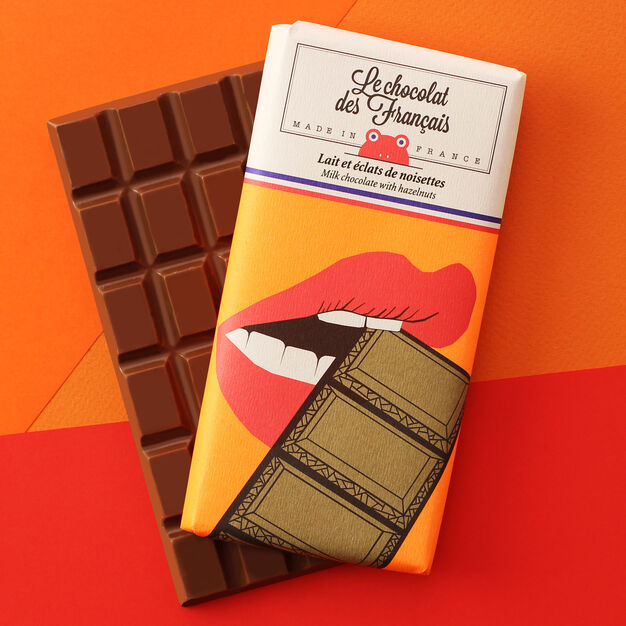 Le chocolat des Français Chocolate Bar - Bouche in color