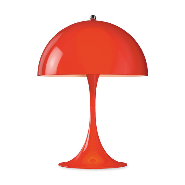 Panthella Mini Table Lamp in color Red