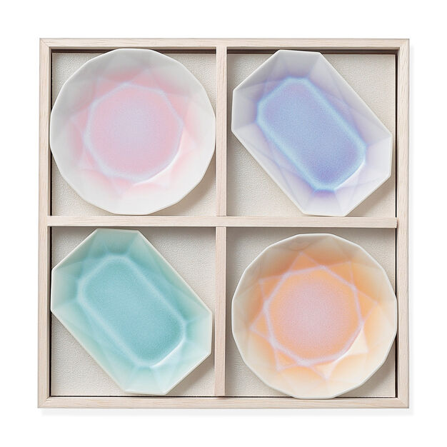 Pastel Origami Dishes in color