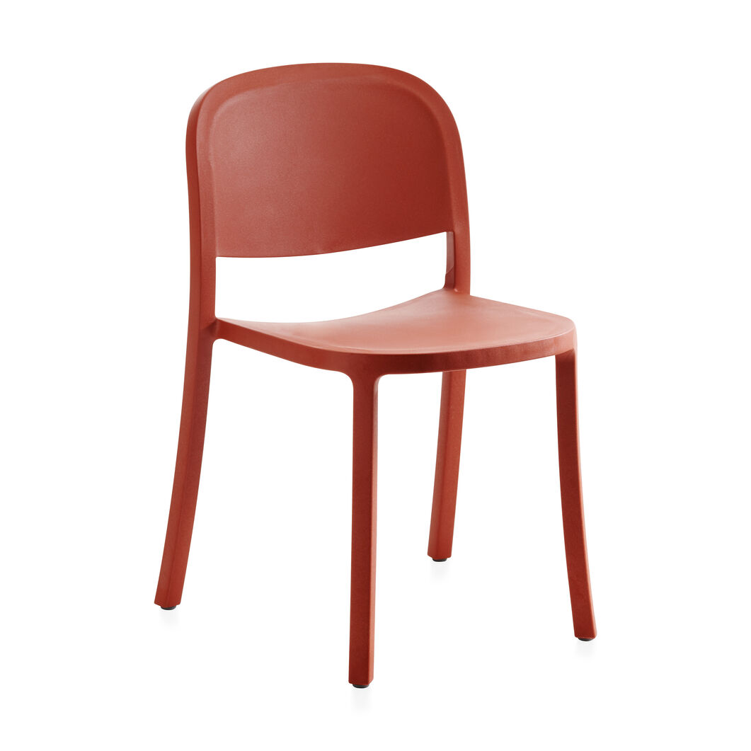 Emeco 1 Inch Reclaimed Stacking Chair in color Orange