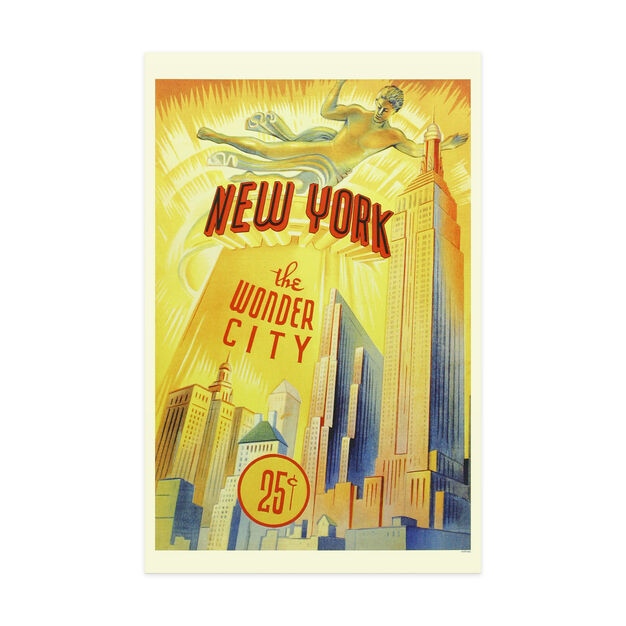 New York the Wonder City Poster in color