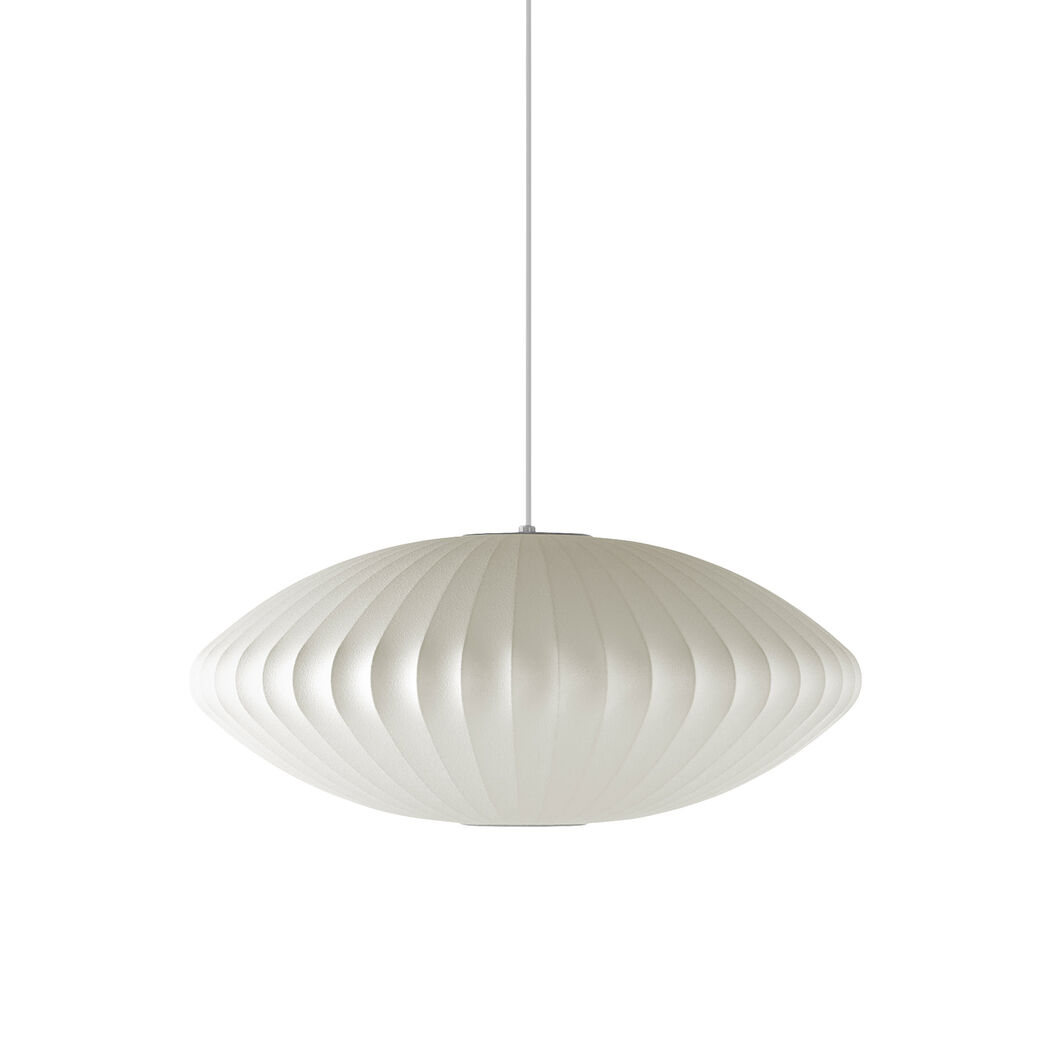 fiberglass chandeliers lamp by pendant furniture f george b lighting s id shaped lights nelson miller herman mfg manufactured bubble saucer
