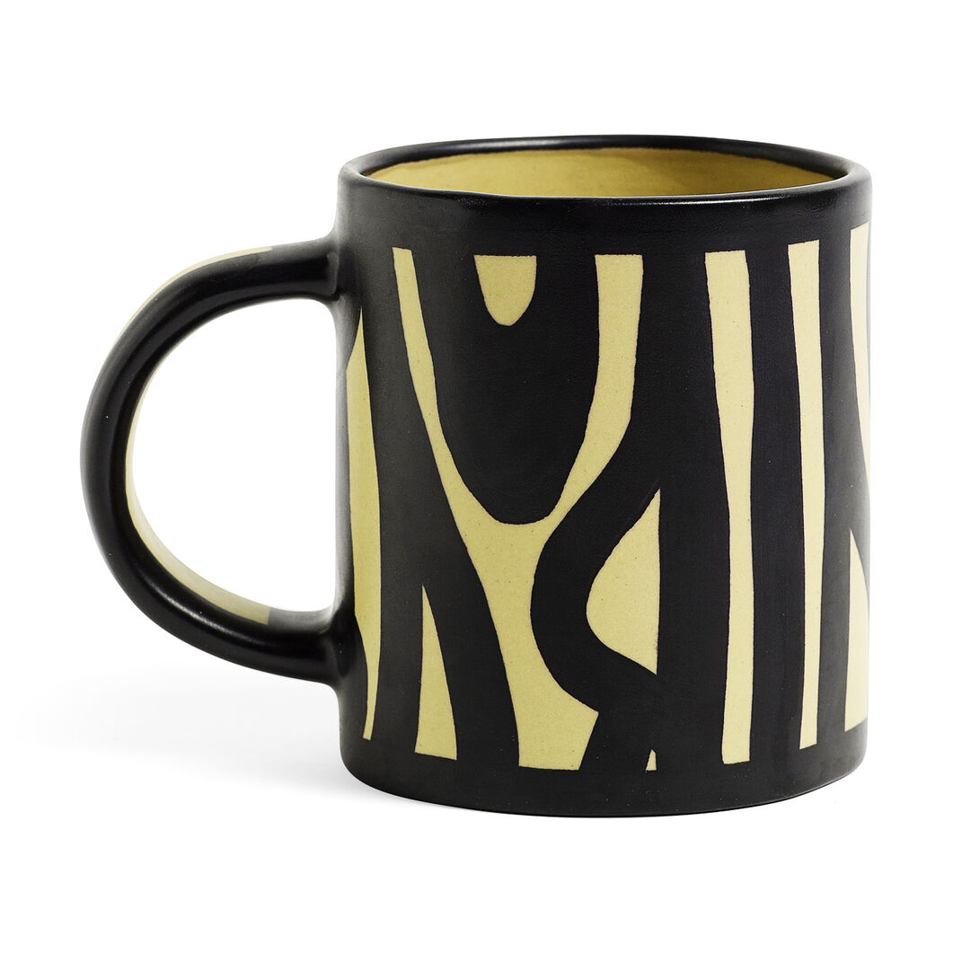 HK Wood Mug Yellow in color Yellow
