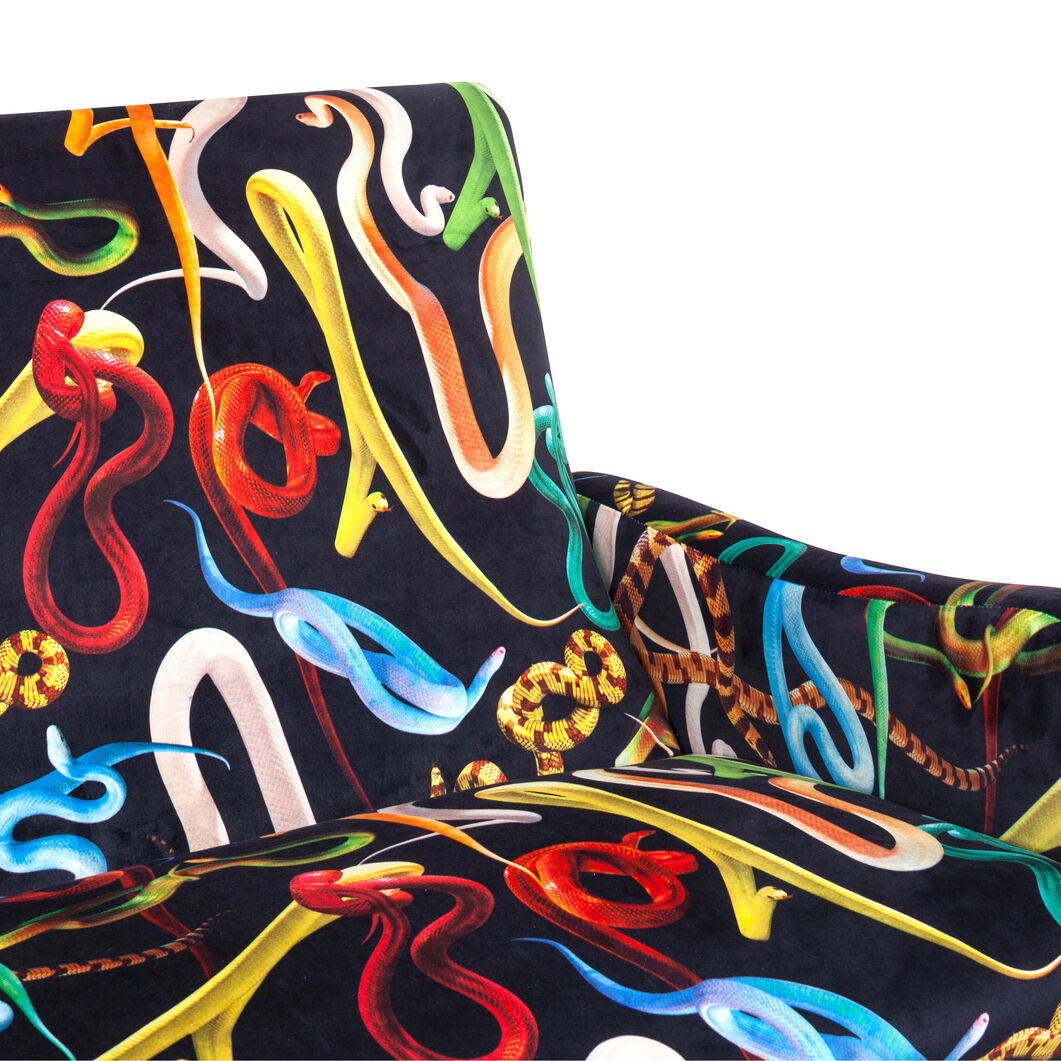 Seletti Wears Toiletpaper: Snakes Loveseat in color