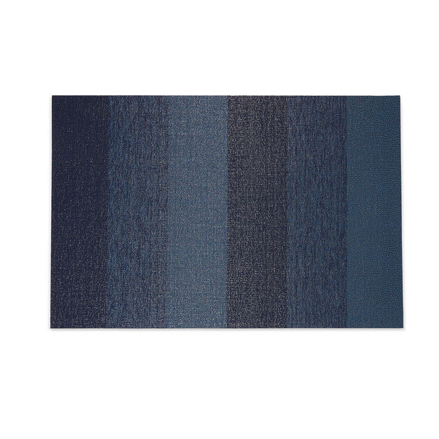 Chilewich Marbled Stripe Shag Floormat in color Blue