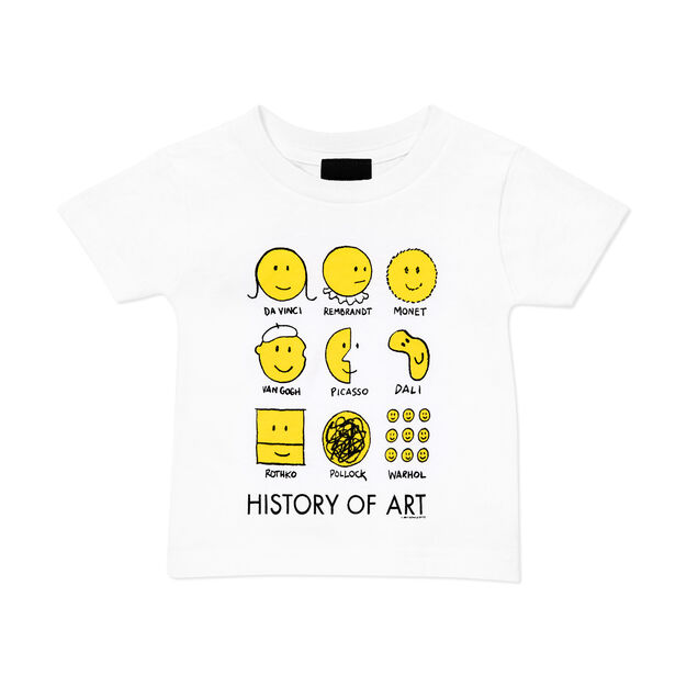 History Of Art Kids T-Shirt in color White/ Yellow