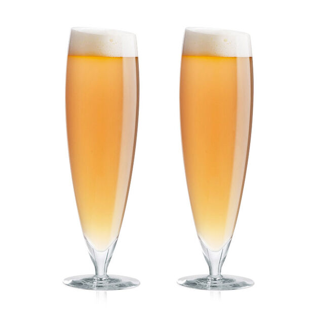 Slant Beer Glass – Set of 2 in color