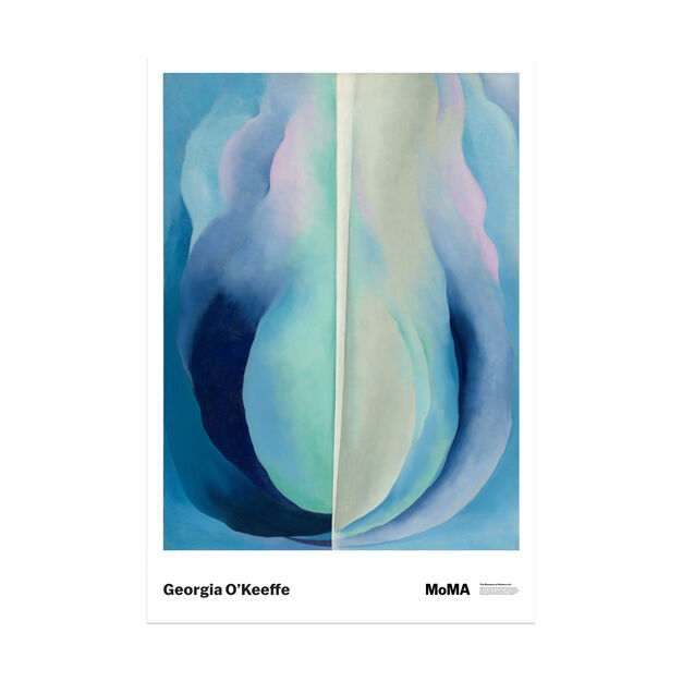 Georgia O'Keeffe: Abstraction Blue Poster in color
