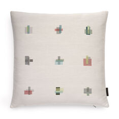 Maharam Darning Sampler Pillow by Scholten & Baijings in color Eggshell