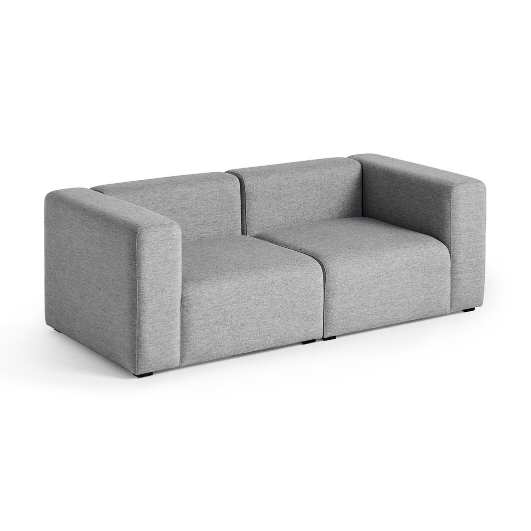 HAY Mags Two-Seater Sofa in color CHARCOAL GRAY