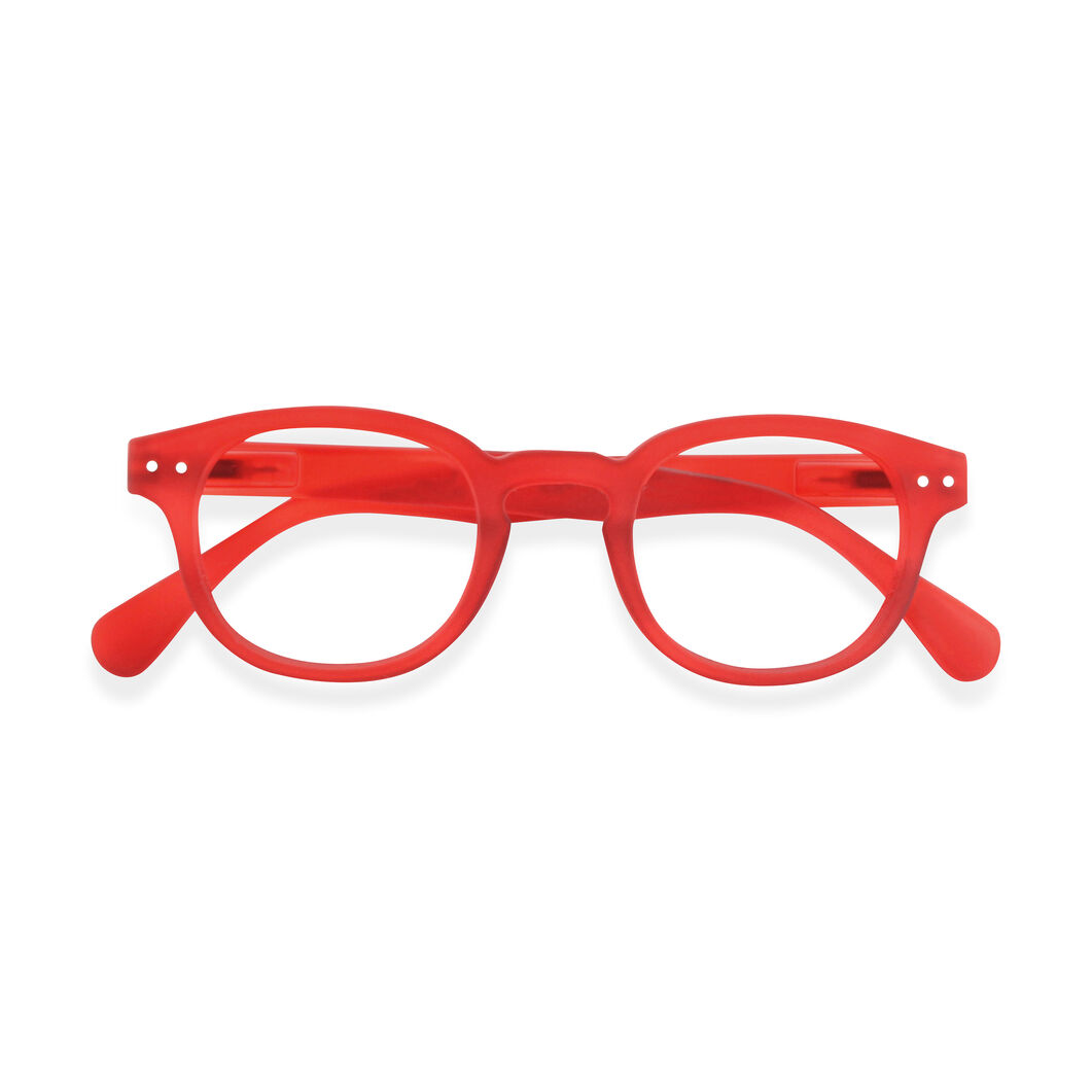 IZIPIZI Rounded-Edge Square Reading Glasses #C in color Red