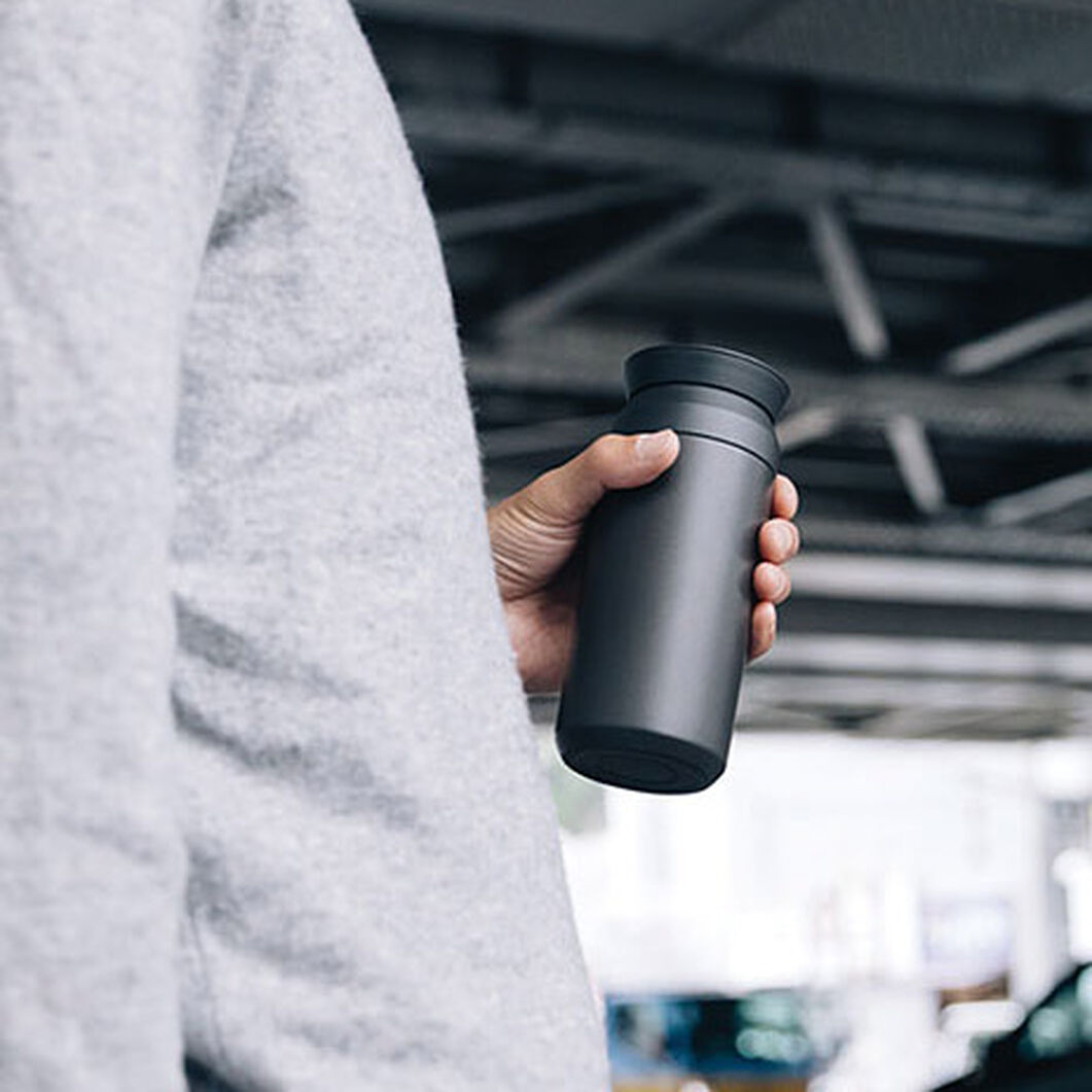 Kinto Vacuum Insulated Travel Tumbler in color Black