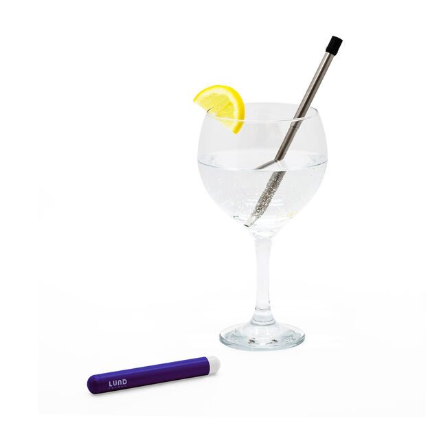 Collapsible Straw with Case in color Indigo