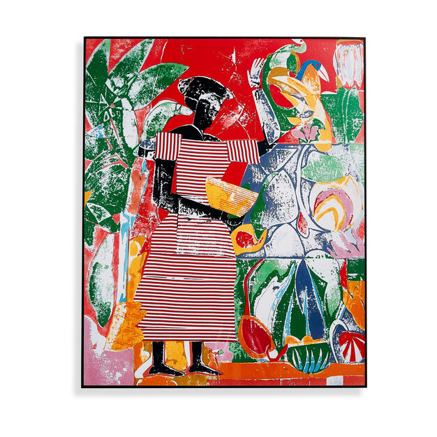 Romare Bearden: In the Garden (from the Portfolio: Prevalence of Ritual), 1974 Framed Print in color