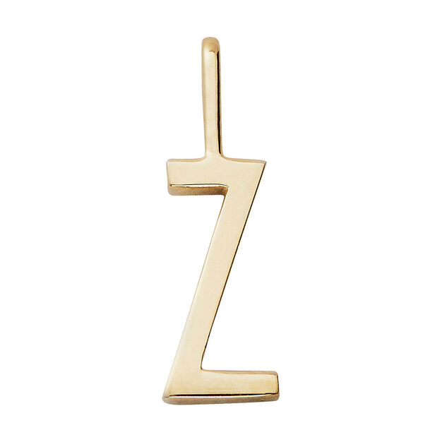 Arne Jacobsen Small Charm Design Letters in color Gold