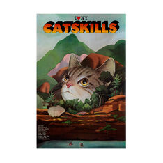 Milton Glaser: I Love NY Catskills Poster in color