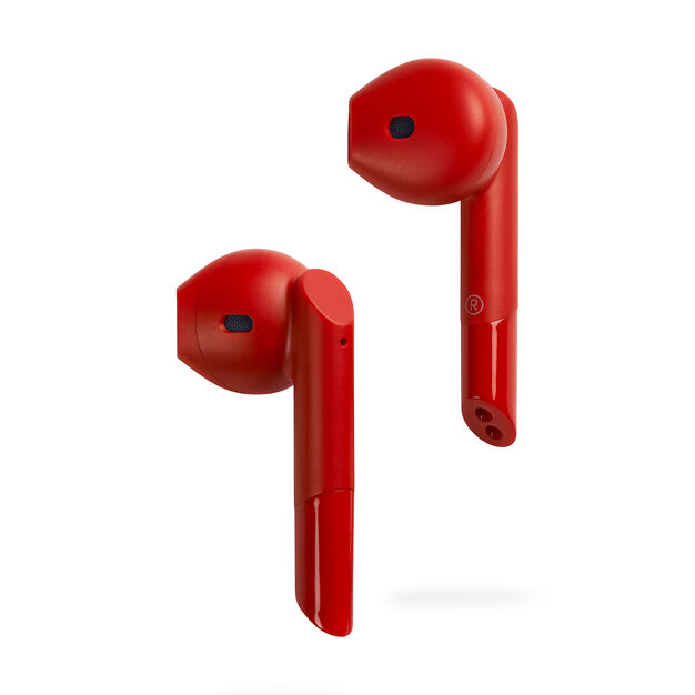 Mykronoz ZeBuds Pro Earbuds with Wireless Charging Case in color Red