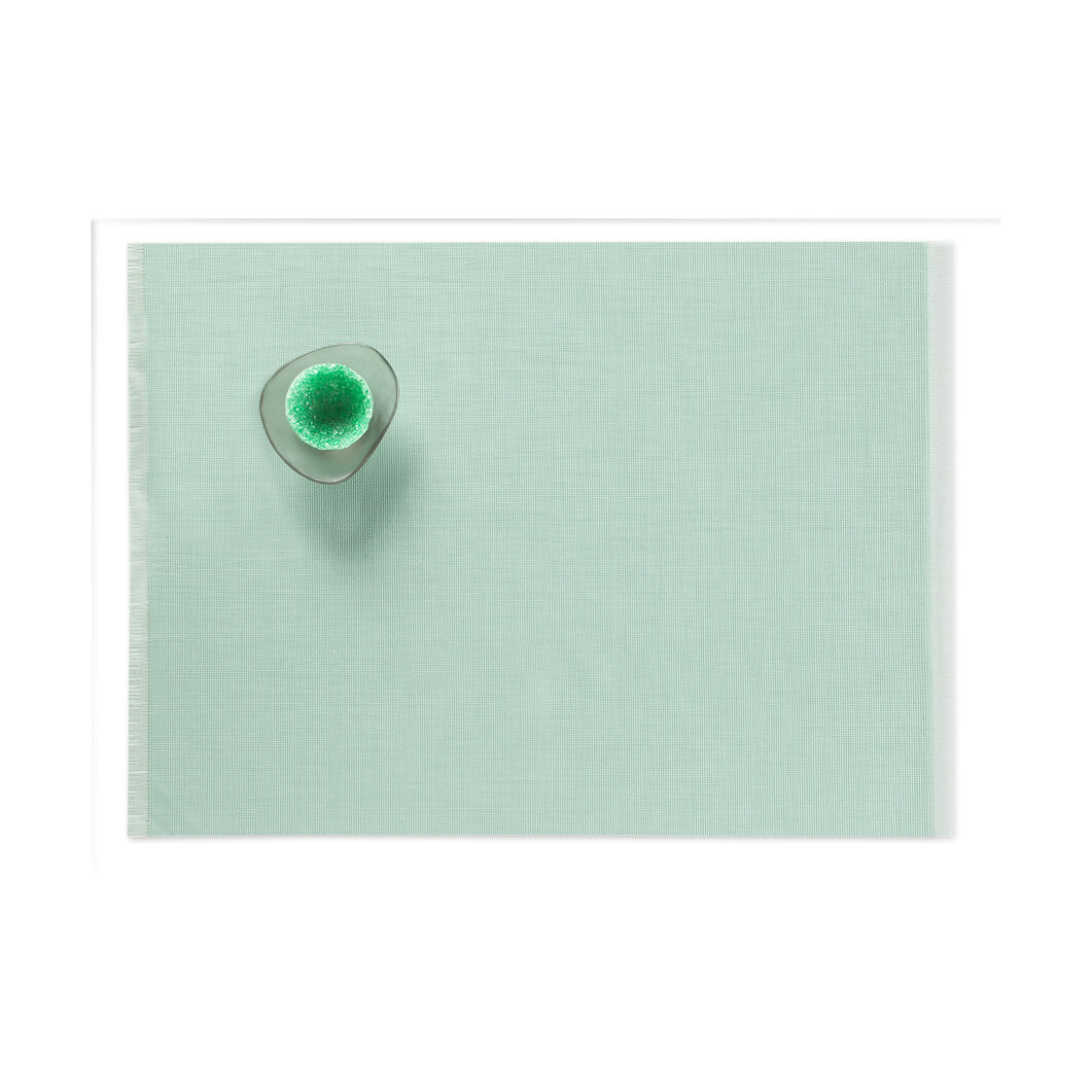 Chilewich Fringe Placemats - Mint in color Mint