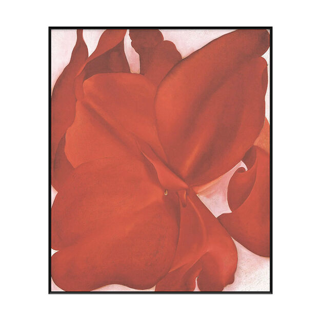 Georgia O'Keeffe: Red Cannas Framed Print in color