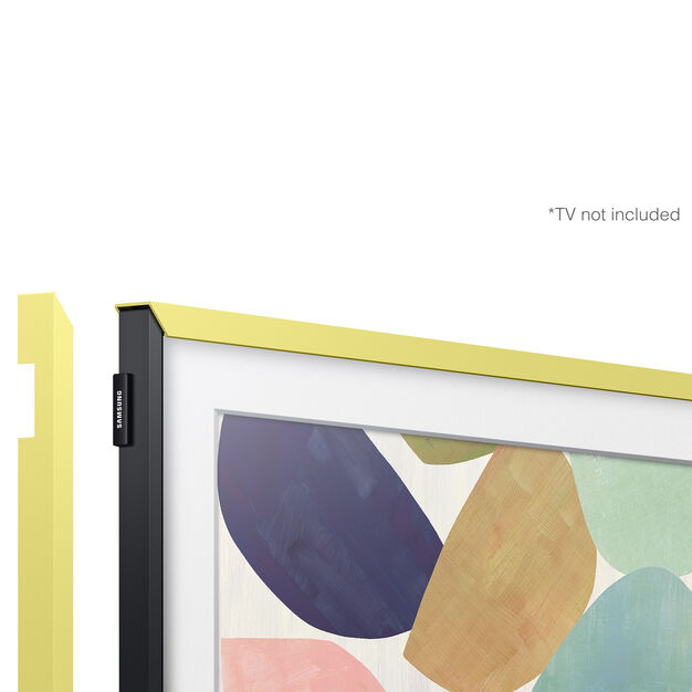 Bezel Customizable for Samsung The Frame TV in color Yellow