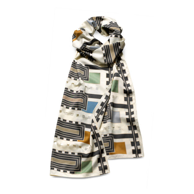 Frank Lloyd Wright: Florida Usonian House Scarf Ivory in color Ivory