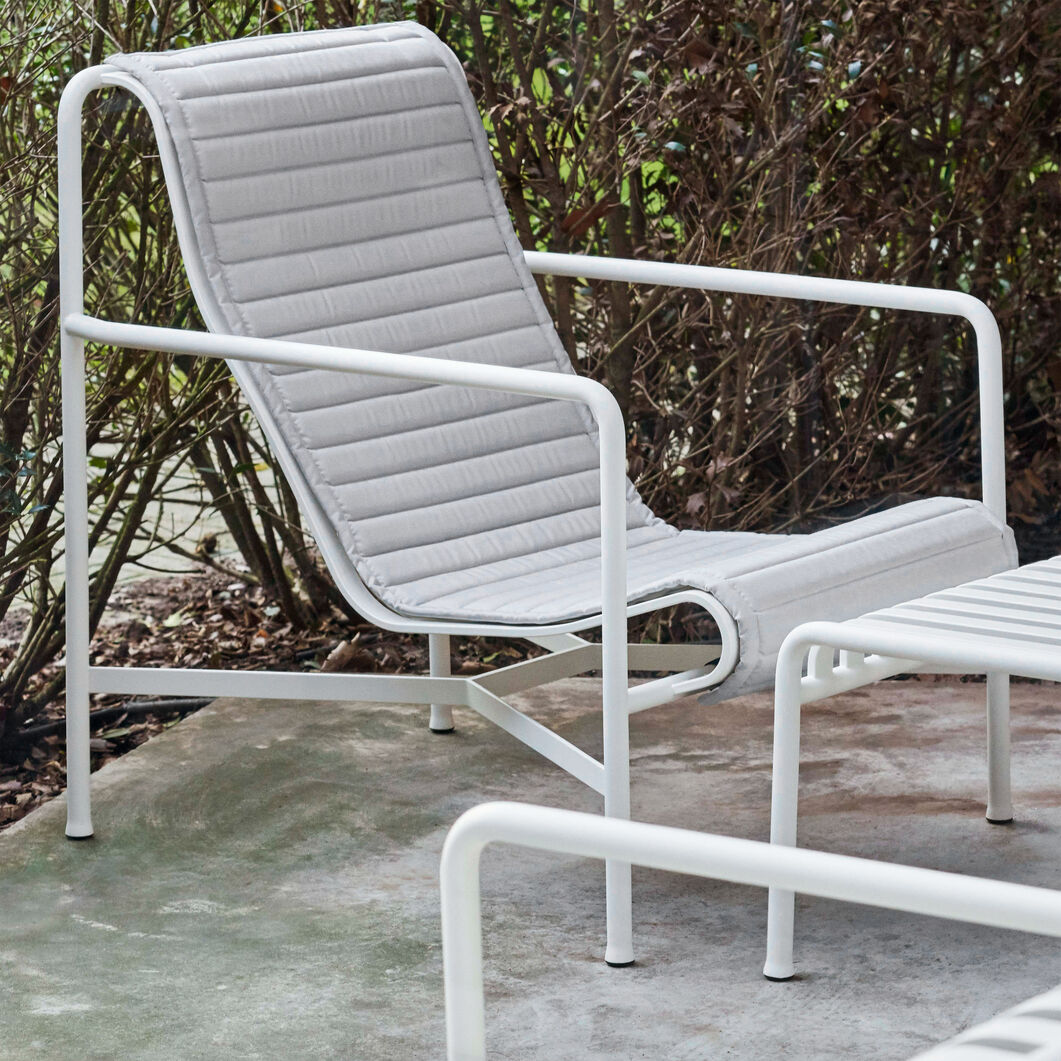 HAY Palissade Outdoor Lounge Chair High in color White