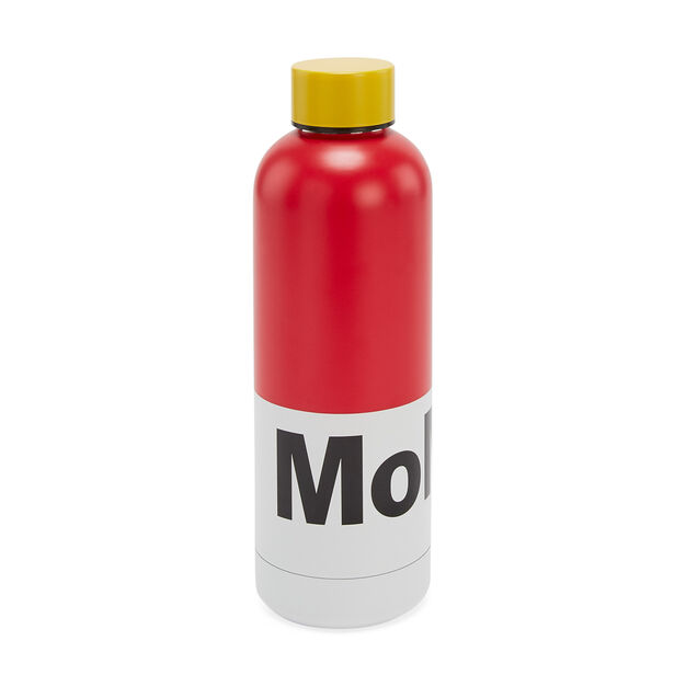 MoMA Water Bottle in color Red/ Yellow
