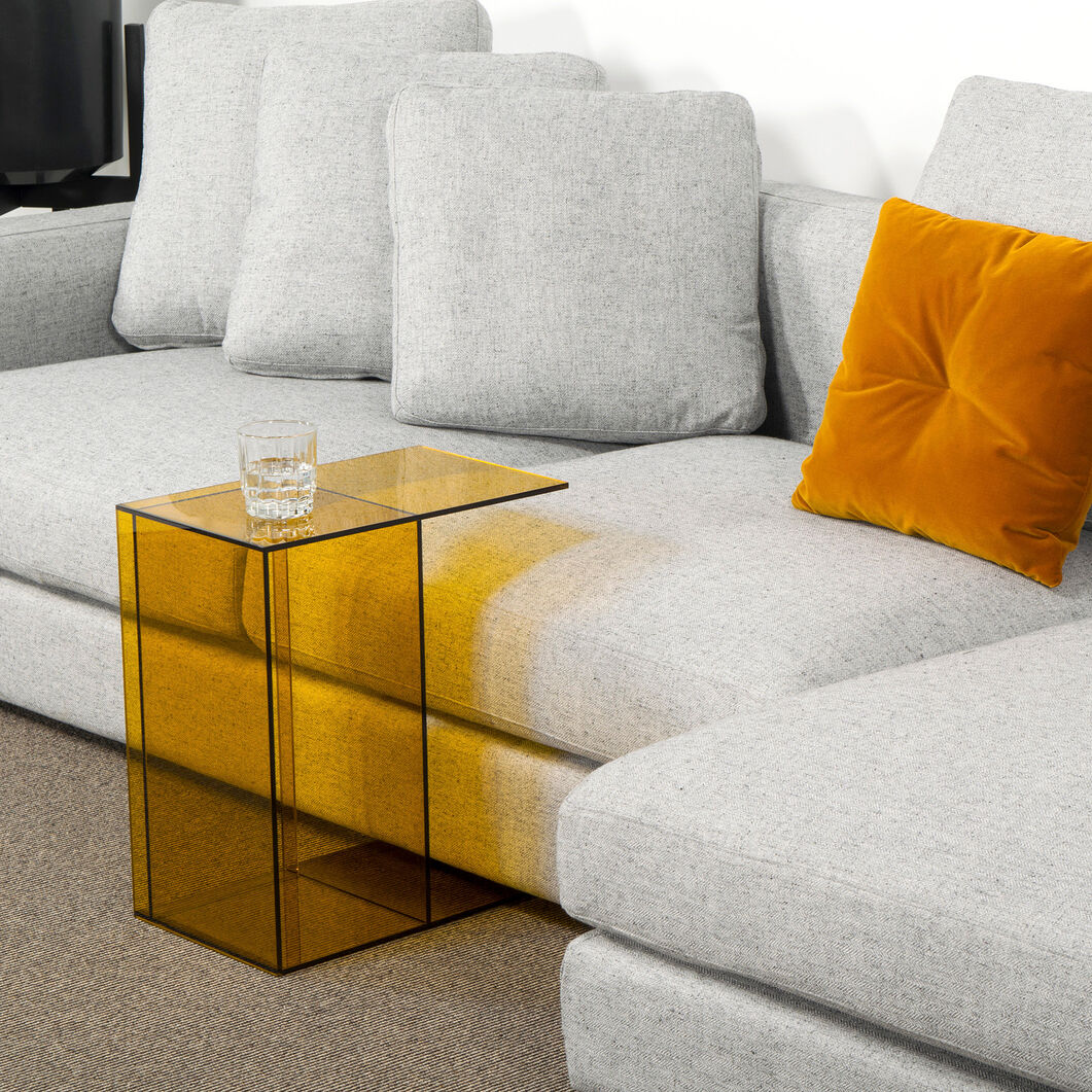 Two-Way Side Table in color Yellow