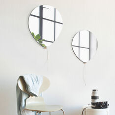 Balloon Mirrors in color Silver
