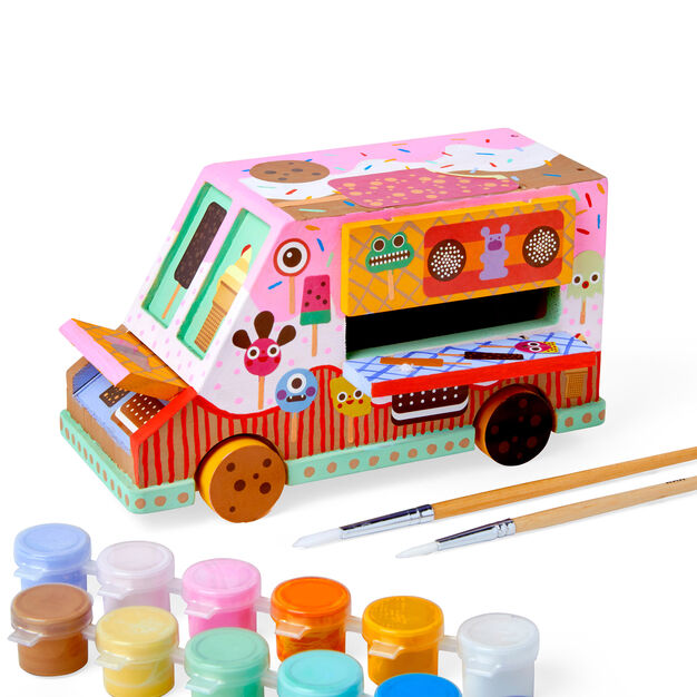 Kid Made Modern Paint Your Own Ice Cream Truck Kits in color Ice Cream Truck