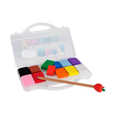 Clay Eraser Set of 12 in color